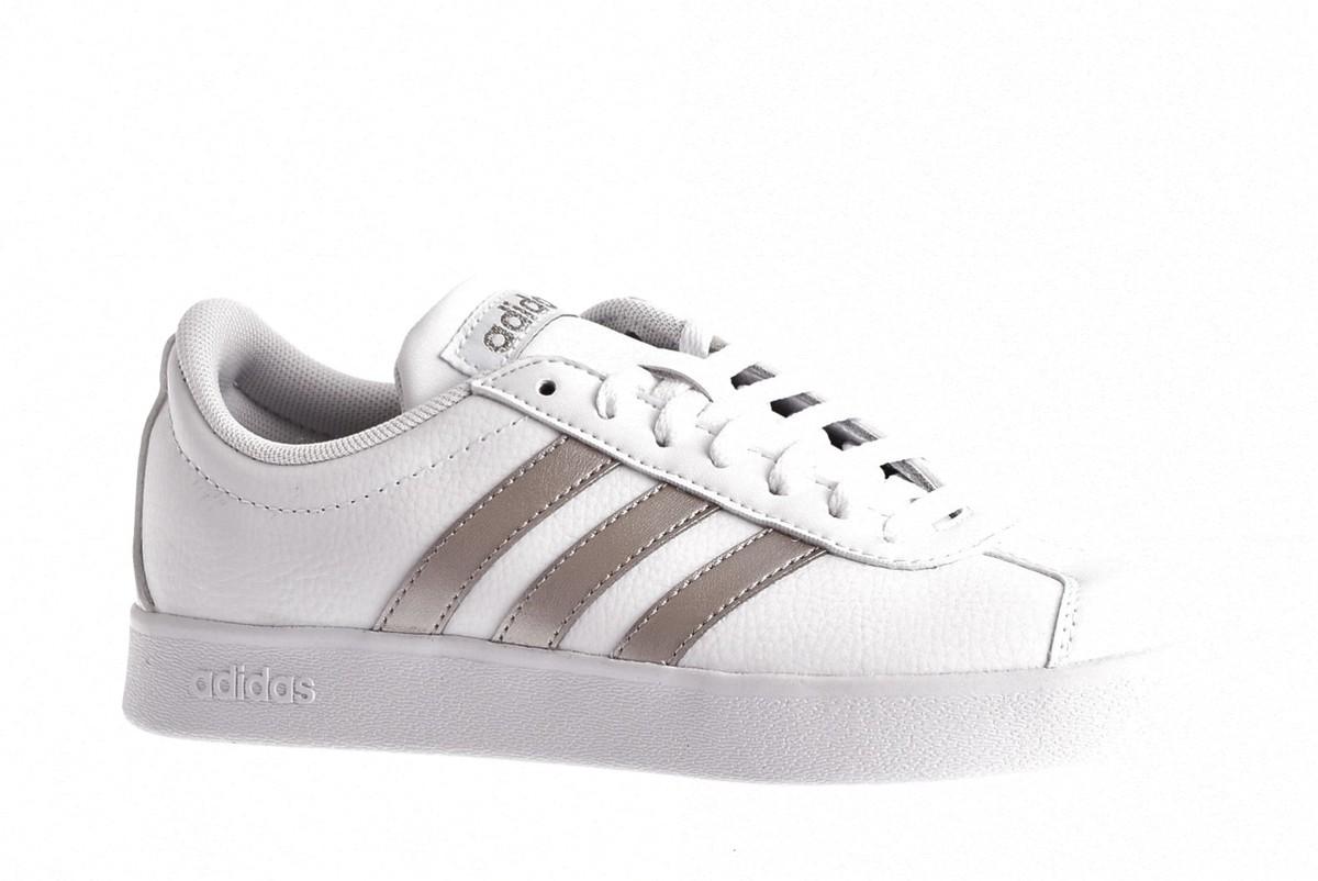 Adidas - Dames - VL COURT 2.0 EE4022 - WIT-PLATINA ...